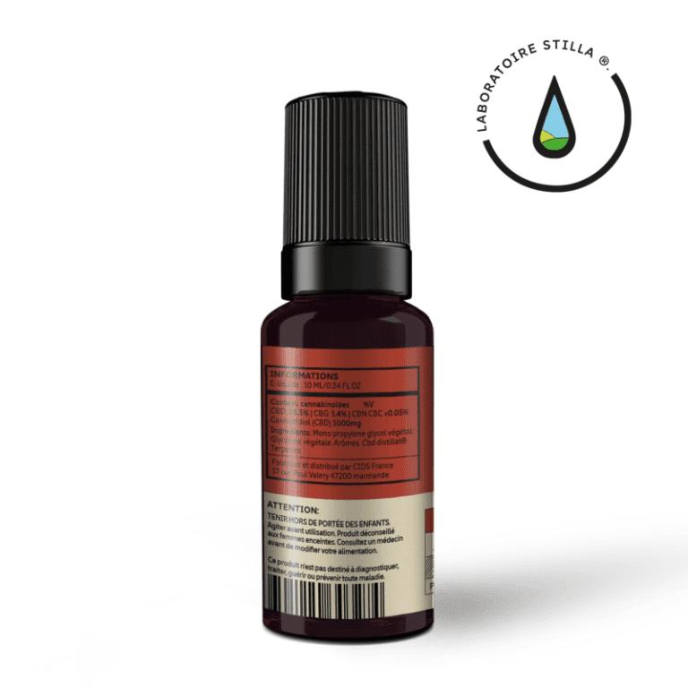 E-liquide Blend 10% CBD Stilla 1000mg étiquette