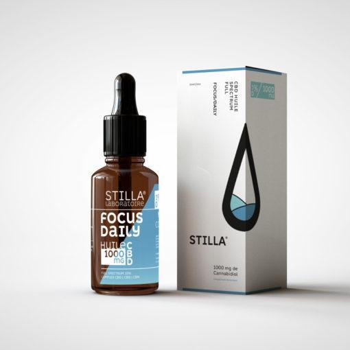 huile cbd de noix de coco stilla focus daily 1000mg