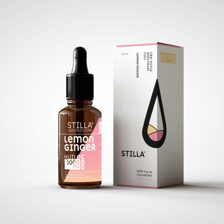 huile cbd de noix de coco stilla lemon ginger 1000mg