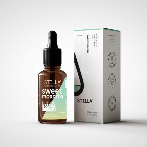 huile cbd stilla aromatisée Vanille Poire sweet morning 1000mg