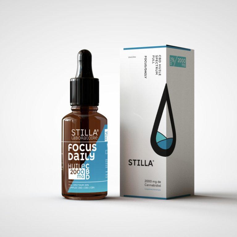 huile cbd de noix de coco stilla focus daily 2000mg