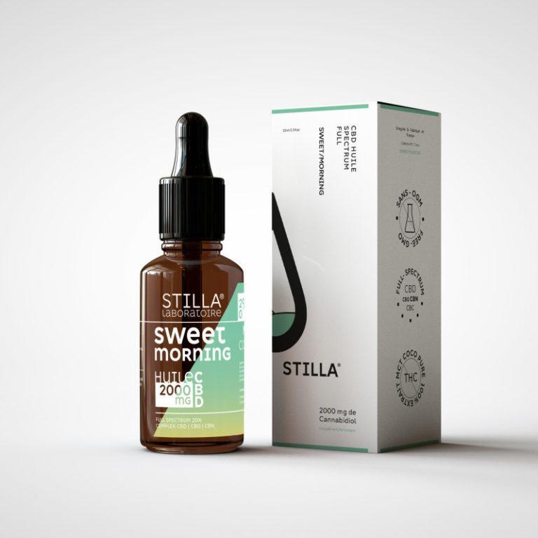 huile cbd aromatisé stilla sweet morning 2000mg