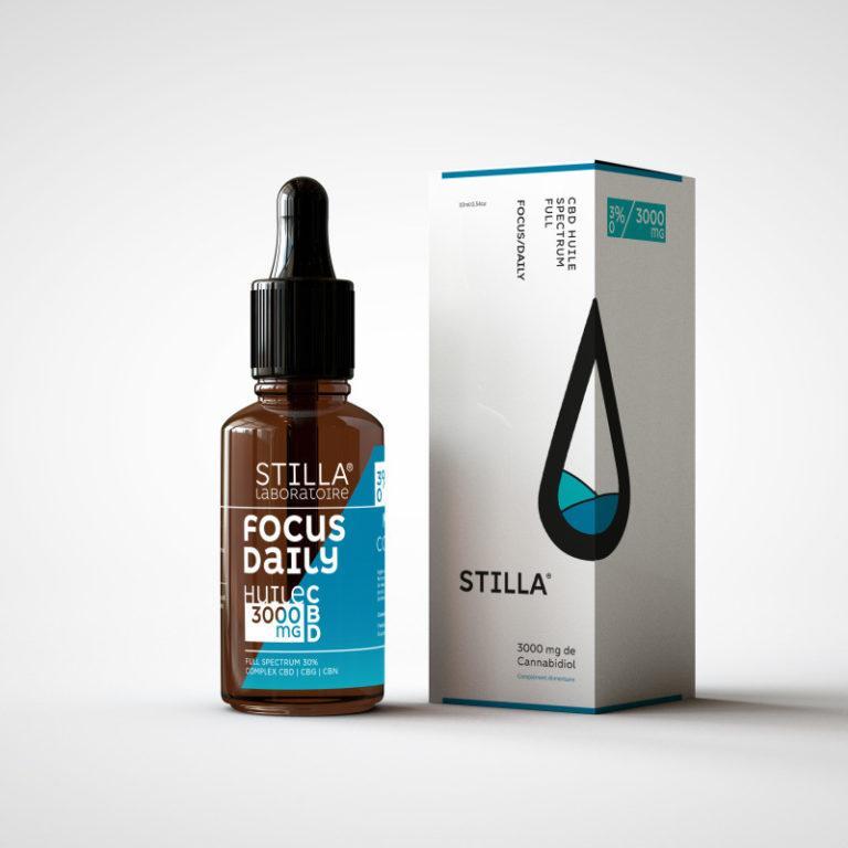 huile cbd de noix de coco stilla focus daily 3000mg