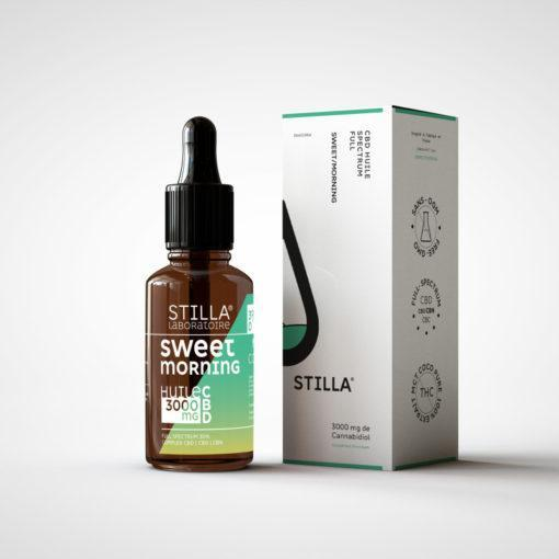 huile cbd de noix de coco stilla sweet morning 3000mg