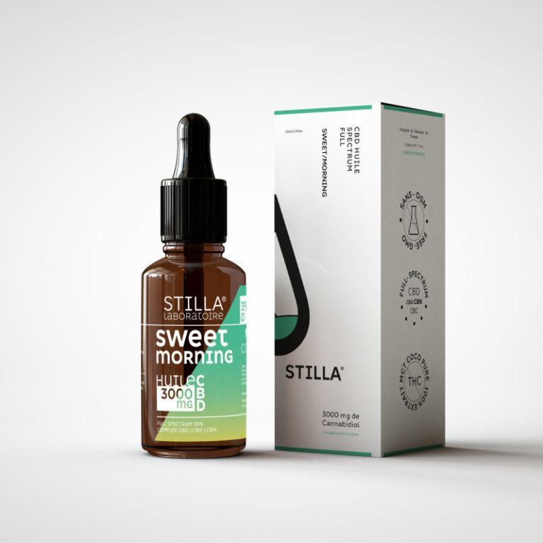 huile cbd de noix de coco stilla sweet morning 3000mg