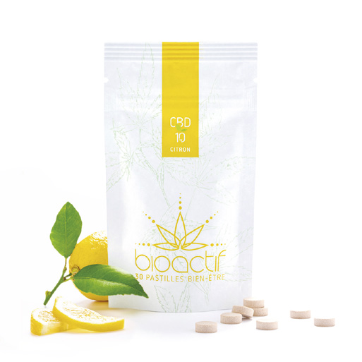 pastilles CBD citron 10mg